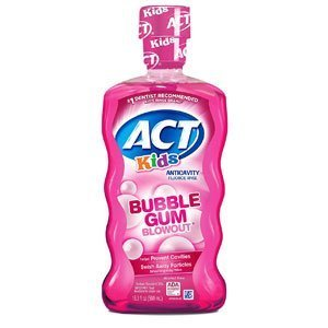ACT Kids Anti-Cavity Fluoride Rinse Bubblegum Blowout Children's Mouthwash