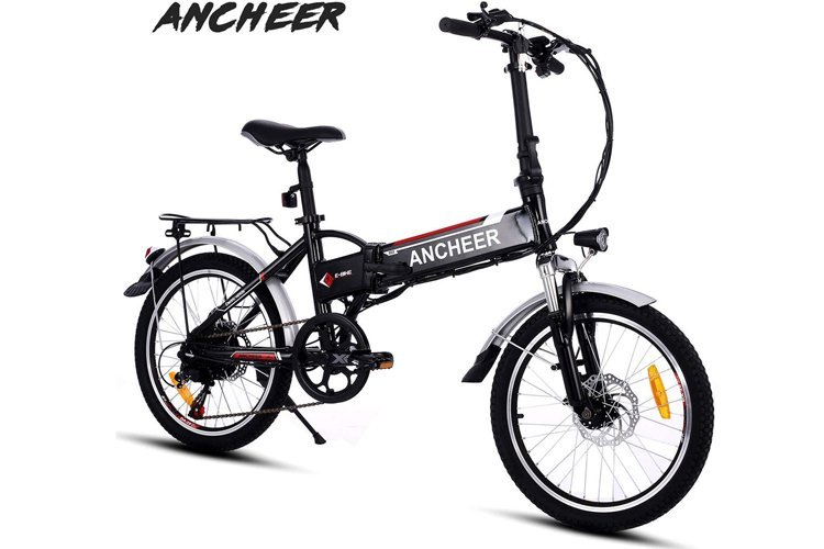 ANCHEER Folding Electric Bike with 36V 8Ah Removable Lithium-Ion Battery 20 inch Ebike with 250W Motor and 7 Speed Gears Shifter