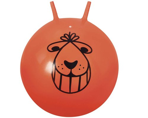Space Hopper Ball - Retro Orange Bouncing Ride-on Ball