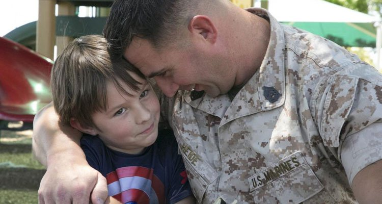 when daddy is deployed