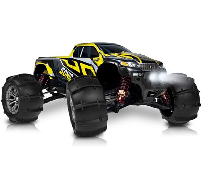 1 16 Brushless Large RC Cars 55+ kmh Speed - Kids and Adults Remote Control Car 4x4 Off Road Monster Truck Electric - All Terrain Waterproof Toys Trucks for Boys, Girls - 2 Batteries for 40+ Min Play
