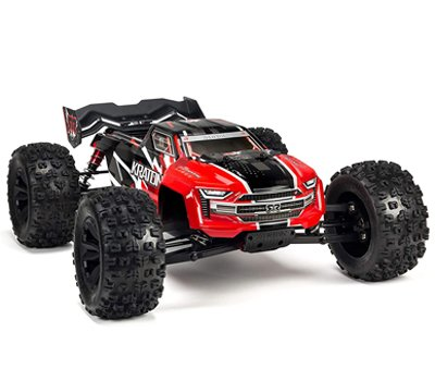 ARRMA KRATON 1 8 Scale BLX Brushless 4WD RC Speed Monster Truck Rtr 6S LiPo Battery Required with 2.4Ghz STX2 Radio ARA106040T1 Red