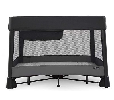 4moms breeze plus Portable Playard with Removable Bassinet and Baby Changing Station Easy One-Handed Setup from The Makers of The mamaRoo Old Version
