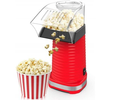 Air Popper Popcorn Maker, Electric Hot Air Popper Popcorn Machine for Home, Healthy Hot Air swirling Popcorn Popper No Oil, DIY Your Own Taste,with Measuring Cup and Removable Top Cover