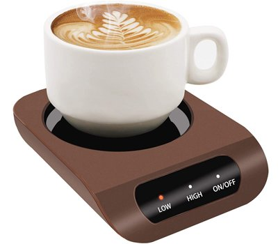 Coffee Mug Warmer - Desktop Beverage Warmer - Electric Cup Warmer Tea Water Cocoa Milk for Office Desk and Home Use 110V 35W Best Gift for Coffee Lovers with Automatic Shut Off Function
