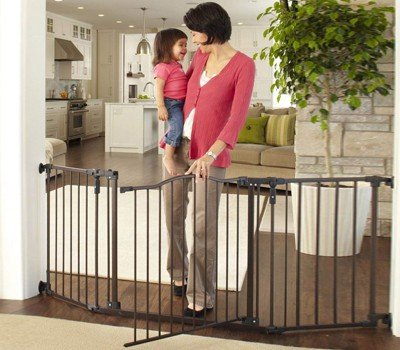 """Toddleroo by North States 72"""" wide Deluxe Décor Baby Gate Sturdy"""